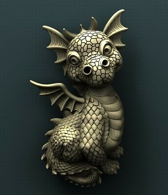 3d STL Model Relief for CNC Router Aspire _ (0327) Dragon