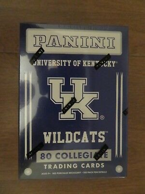 2016 Panini Collegiate University of Kentucky 80 trading cards sealed box