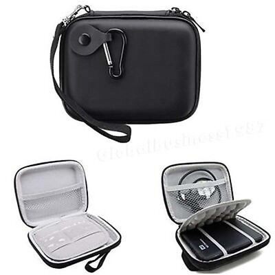 Black 5 inch Portable Carry Case Fit For Western Digital WD Elements Hard Drive