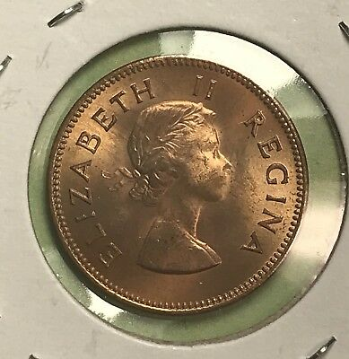 1959 SOUTH AFRICA Penny PR63RB Mintage Of 900(Toning) - $35 00