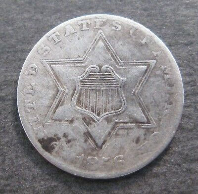 1856  Three  Cent Silver Piece - 3¢ - * No Reserve * - (P850)