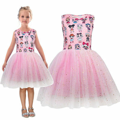For Girls Princess Dress Skirt Tutu Toddler Kids Clothes Party Costume Gift