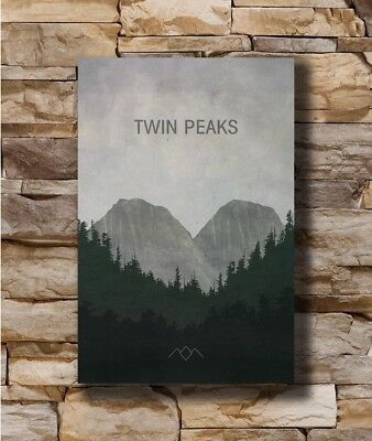 Twin Peaks US Hot New 2017 TV Series Show Vintage Canvas Poster 12x18 32x48/'/'
