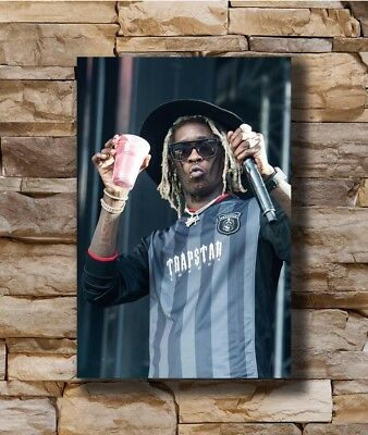 Young Thug Rap Hip Hop Music Singer Art Hot 12x18 24x36in FABRIC Poster N2962