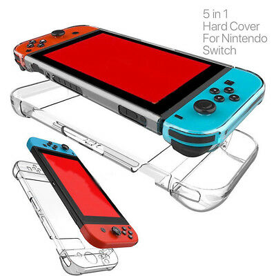 For Nintendo Switch Transparent Clear Shockproof Protect Hard Case Cover Y1H8P