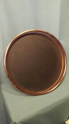 Vintage Coppercraft Guild Round Serving Tray Dish 15""