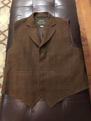 Orvis Signature Collection Tweed Wool Vest XL