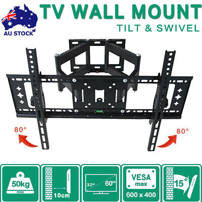 TV Wall Mount Bracket Full Motion Tilt Swivel Pivot 32 40 43 50 55 60 65 Inch