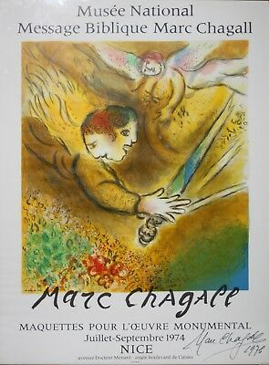 MARC CHAGALL-French Modernist-Hand Signed LIM.ED Mourlot Litho-Angel of Judgment