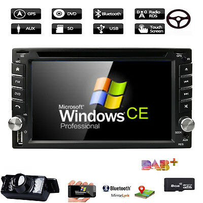 Camera+GPS Navi Double Din Car Stereo Radio DVD mp3 Player Bluetooth with Map E