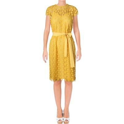 6fafe149c88d Juicy Couture Black Label Womens Lydia Yellow Lace Party Dress M BHFO 2953