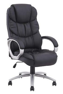 Reclining Computer Chair High Racing Back Gaming Footrest Office Executive Desk
