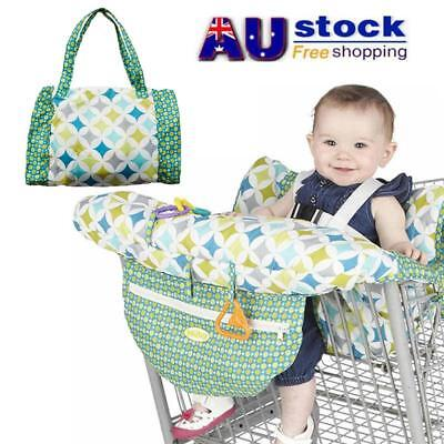 AU Foldable Baby Shopping Trolley Cart Seat Cushion Chair Safety Protector Cover