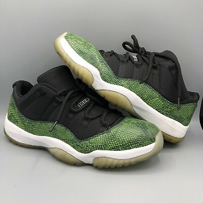 3bde52d312 Nike Air Jordan Retro Xi 11 Low Sz 12 Nightshade Green Snakeskin 528895-033  Ii