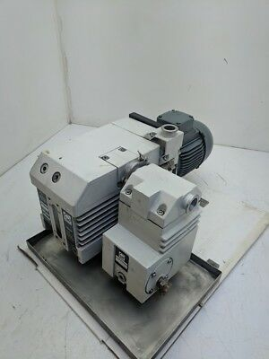 Leybold Trivac D25B Oil Sealed Rotary Vane Vacuum Pump + Exhaust Filter 25M^2/hr