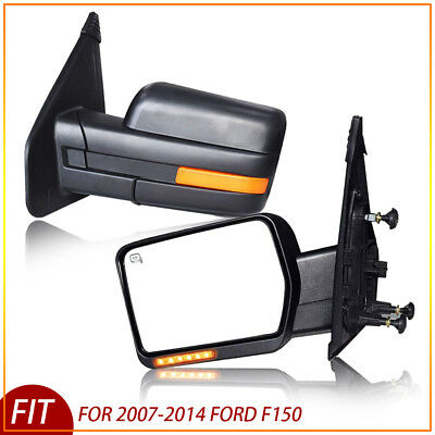For 07-14 Ford F150 Power/Heated/Signal Left/Right Towing Mirrors
