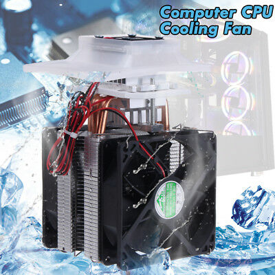 12V Thermoelectric Peltier Refrigeration Cooling System Heatsink Kit Cooler Fan