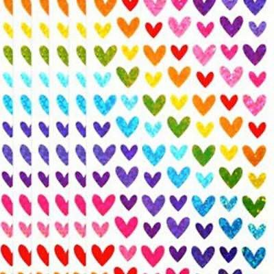 504 Pcs Love Shape Labels For School Children Teacher Reward DIY Stickers Good