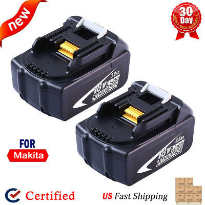 2x For Makita BL1850 BL1840 LXT400 BL1830 18V 3.0Ah Lithium-Ion Battery 194309-1