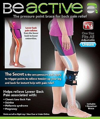 BE ACTIVE Brace Leg Back Pain INSTA LIFE Knee BEACTIVE Support Sciatic Nerve
