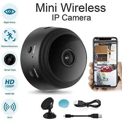 Mini WiFi 1080P HD Spy IP Camera Wireless Night Vision Motion Detection Cam UK