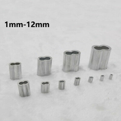 Aluminum Cable Crimps Sleeves Ferrule 8-shaped For Wire Rope Clip Fittings GB WC