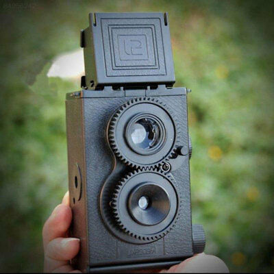 36F3 Fashion Black DIY Twin Lens Reflex Lomo Film Camera Kit Classic Play Toy Gi