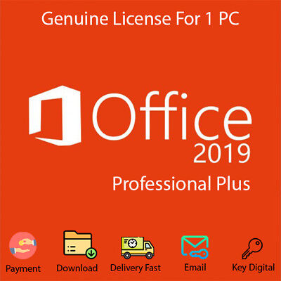 Office 2019 Pro Plus 32/64 Bit Download Genuine  For 1 PC