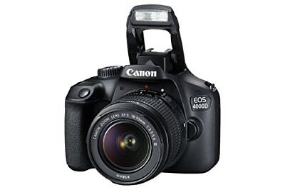Canon EOS 4000D DSLR Camera and EF-S 18-55 mm f/3.5-5.6 III Lens (Black) NEW