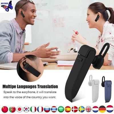 22 Languages Intelligent Smart Wireless Translator Device Earphone AU
