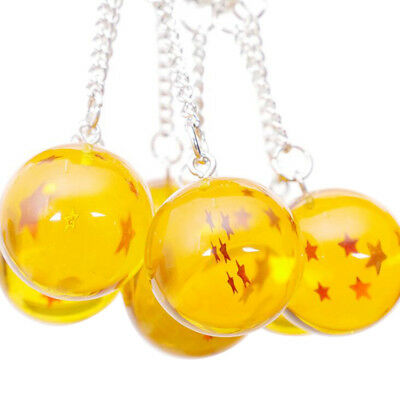 Anime Goku Dragon Ball Super Keychain 3D 1-7 Stars Crystal Ball Key chain Toy