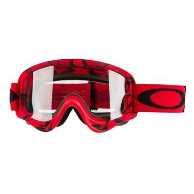 f092c6411a New Oakley O Frame Goggles Intimidator Red Black Clear Lens Motocross  Enduro Mx
