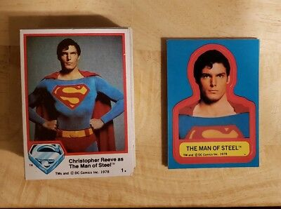 1978 Topps SUPERMAN The Movie Complete Set (77) w/ Stickers (6) & Foil (6) NRMT