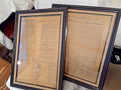 The Framed Constitution Of The Usa And Framed Declaration Of Independence