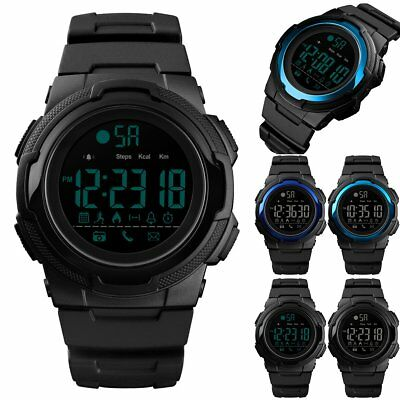 SKMEI Fashion Mens Smart Watches Bluetooth Digital Sports Wrist Watch Waterproof