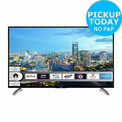 Bush DLED49UHDHDRS 49 Inch 4K UHD Freeview Play LED Smart TV With HDR - Black