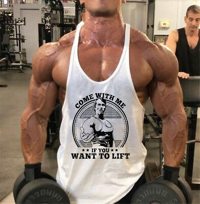 Arnold Schwarzenegger Gym Top Vest Bodybuilding Come With Me If you Want T Shirt