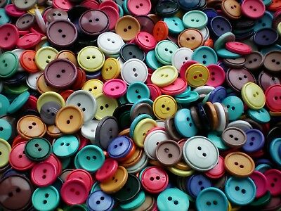 25 50 100 Mixed Buttons Blue Pink Grey Cream Black Assorted Small 15mm 23mm  MX2