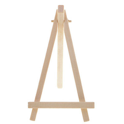 Wooden Table Number Canvas Easel Wedding Place Name Card Holder Stand 15cm