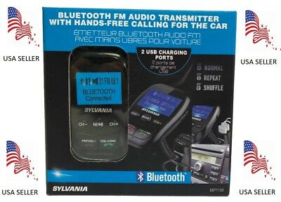 Sylvania, Bluetooth FM Audio Transmitter, Hands-free for Car, FREE SHIPPING