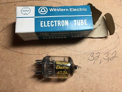 WESTERN ELECTRIC 407 A 407A VACUUM TUBE NOS NIB -Passed Continuity Test