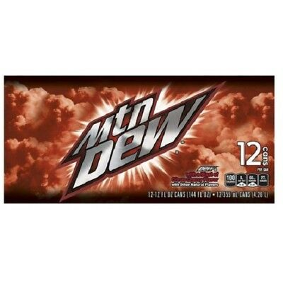 12 Pack Mountain Dew Cans Cherry Citrus  (ex- Game Fuel)
