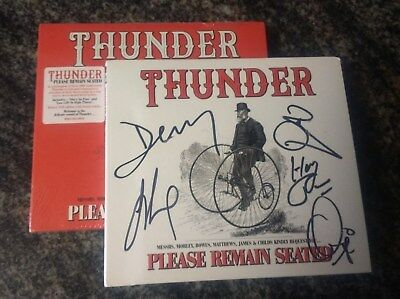 sIGNED THUNDER  Please Remain Seated CD Autographed + DELUXE VERSION