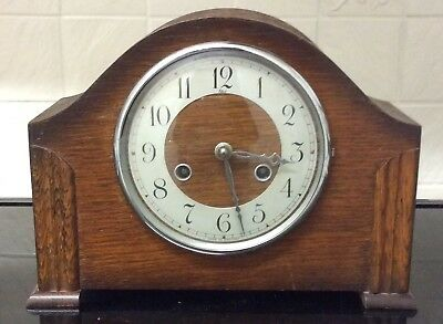 Vintage Perivale Striking 8 Day Mantel Clock ++Working Order++