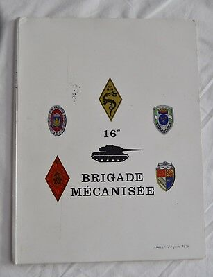 DOCUMENTS MILITAIRES ECRITS ET PHOTOS 16e BRIGADE MOTORISÉE DRAGONS INFANTERIE