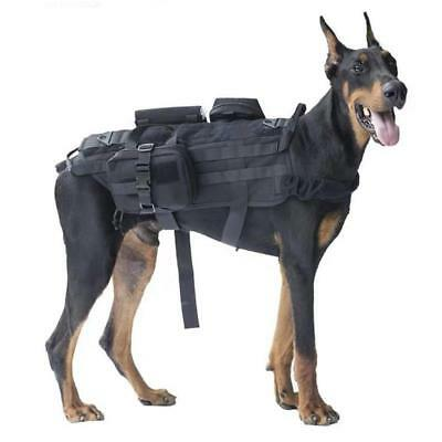 Tactical Training Dog Harness Military Adjustable Molle Nylon Vest 6L