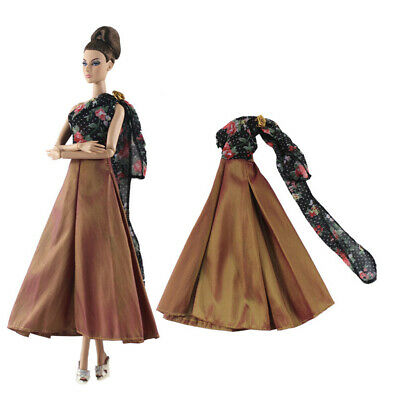 1/6 Doll Clothes Doll Evening Gown Party Dress For Doll 30cm Dolls Handmade