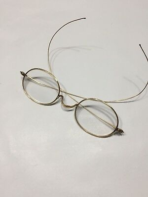 Antique Ben Franklin Eye Spectacles Eye Glasses 14 Kt Yellow Gold Filled 3 1/4""
