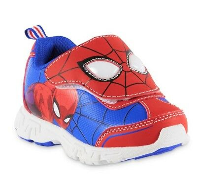 SPIDER-MAN MARVEL COMICS Boys Light-Up Sneakers Shoes Size 7 8 9 10 11 or 12