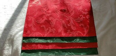 Festive 12 Piece Cloth Placemats, Napkins and Napkin Ring Set